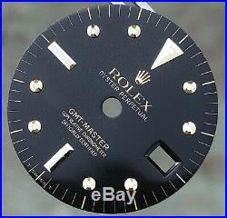 Rolex GMT-Master 1675 16753 16758 Black Nipple Glossy Gilt Dial & Hands ORIGINAL