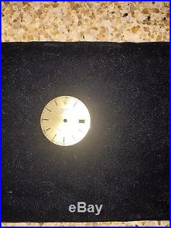 Rolex Genuine Gold Oyster Perpetual Date Watch Face & hands. NEW, never mounted