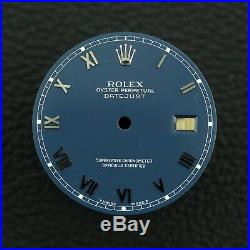 Rolex Oysterquartz Datejust Blue Roman Dial with Hands Ref 17000