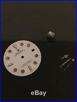 Rolex Part White Dial With Hands Watchmaker Rolex Tool