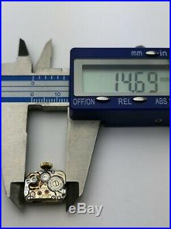 Rolex Precision 17 Jewels Patented Superbalance Watch Movement + Dial, Hands C71