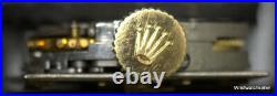 Rolex Precision Calibre 1800 Movement Dial Hands And Crown Works For Parts