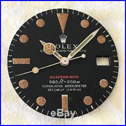 Rolex Red Submariner 1680 Vintage Dial And Hands 100% Genuine Amazing Patina