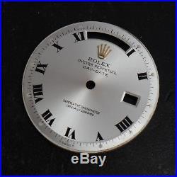 Rolex Silver Roman Piepan President DayDate Watch Dial 1801 1802 1803 Rare Hands