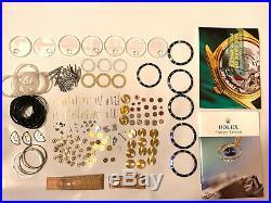 Rolex Submariner GMT-Master II INSERT Crystals Hands Disc Wheels Genuine Rolex