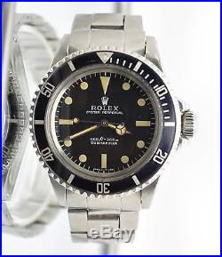Rolex Vintage Submariner 5513 untouched Dial and hands 1970
