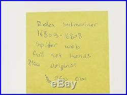 Rolex original Submariner spider web dial, ful set hands, model 16803,16808