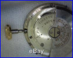 Rolex-watch 7.3/4 420 Bubbleback movement hands dial crown genuine imperfect