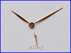 Rose gold plated steel feuille hands for ETA Unitas 6498 6497