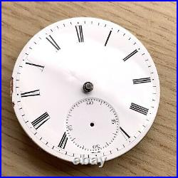 Roskell Liverpool Pocket Watch Hand Manuale 43 MM No Funziona For Parts Vintage