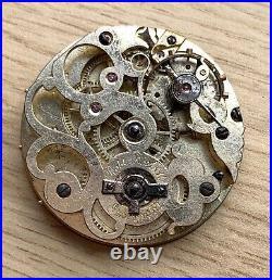 Roskell Liverpool Pocket watch Hand Manual 43 mm NO Funciona for parts vintage