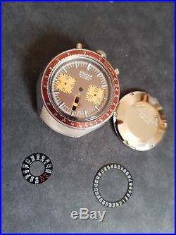 SEIKO bullhead 6138 004 watch steel case bezel crown hands dial movement ring