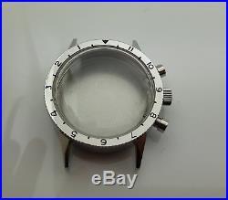 S. Steel Chronograph Case Dial Hands Luminous For Movement Valjoux 7734