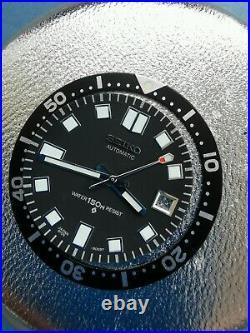 Seiko Captain Willard Diver 6105 Dial, 3 Hands, Bezel Repair. Parts Set 3