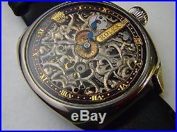 Skeleton Antique WW2 Hand Winding Rolex Watch Original Movement. STUNNING