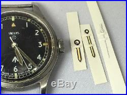 Smiths W10 Military watch hand set. Hour, Minute and Second. MOD New old stock