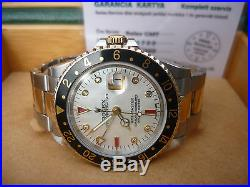 Stunning Rolex GMT Master Mother of Pearl Diamonds and Rubies Dial and hand set