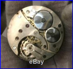 TAVANNES Watch pocket Watch movement XII Red enamelled Dial+Hands parts/repairs