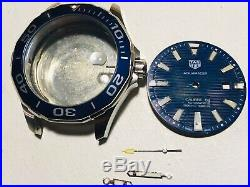 Tag Heuer Aquaracer Case, Dial, Crown, Hands For Parts or Repair