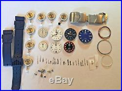 Tag Heuer Watch Parts Dial + Movement + Hands + Boxes + More