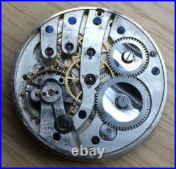 Tavannes Watch Co Pocket Hand Manuale 43,7 MM No Funziona For Parts Tasca