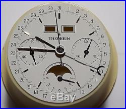 Theorein Vintage Chronograph Dial And Hands Valjoux 88 For Parts