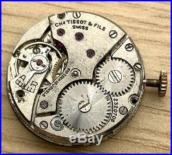 Tissot Antimagnetique 27 Hand Manual 27,5 MM Doesn'T Runs For Parts Watch Swiss