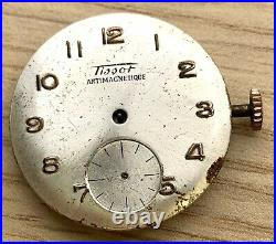 Tissot Antimagnetique 27 Hand Manuale 27,5 MM No Funziona For Parts Watch Swiss