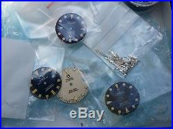 Tudor Dial Lot of 18 Dials and Matching Hands never used & not Refinished, NOS