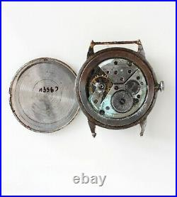 UNVER WATCH 35mm fancy lugs case sub seconds hand winding vintage PARTS SPARES