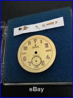Ultra Rare 1940s Rolex Bubbleback Watch Dial And Hands New Old Stock