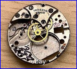 Universal Genève 260 261 264 Hand Manuale 23,5mm No Funziona For Parts Watch