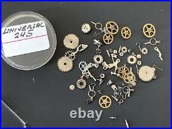 Universal Genève Cal. 245 Lot Lotto Parts Vintage Hand Manuale Movement Watch