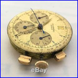 Universal Geneve Compax Movement, Dial, Pushers And Hands 100% Genuine Cal. 283