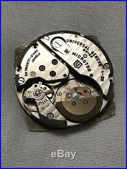 Universal Geneve Microrotor Cal 1-69 Movement Withcalendar At 3 Dial and Hands