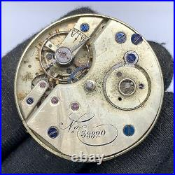 Unknown 38820 Hand Manual Vintage 32,8 MM Doesn'T Works For Parts Pocket Watch