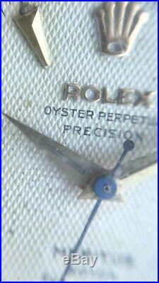 VINTAGE ROLEX CREAM HONEYCOMB MERITUS DIAL WITH PATINA + HANDS for CALIBER 1030