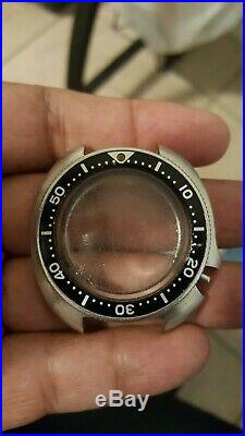 VINTAGE SEIKO 6105-8110 DIVER AUTOMATIC 44mm WATCH CASE BEZEL GLASS HANDS