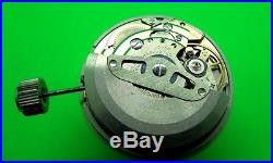 Vintage Seiko Watch Movement 6105 A Automatic Date With Dial-hands-stem-crown