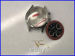 Vintage Wittnauer Pro Chrno Ss Case + Dial + Hands Parts