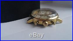 Valjoux 7734 gold plated case with dial and hands. 4parts