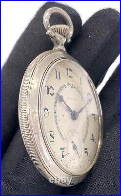 Vasconia Hand Manual Vintage 43,3 MM Doesn'T Works For Parts Pocket Watch