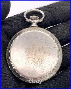 Vasconia Hand Manuale Vintage 43,3 MM No Funziona For Parts Pocket Watch