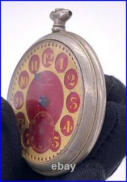 Vigilant Hand Manuale Vintage 48,5 MM No Funziona For Parts Pocket Watch