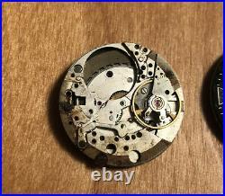 Vintage 1960s Zodiac Seawolf Diver Watch Parts. Dials Hands. Inc Movement Auto