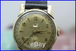 Vintage Benrus Calendar Hand Wind Gold Tone Men's Wrist Watch For Parts/Repair