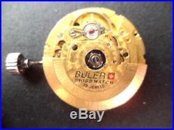 Vintage Eta 25 Jewel 2824-2 Buler Ocean Conqueror Dial, Hands, Stem, Crown