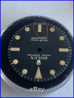 Vintage Genuine Rolex Submariner 5513 Matte Black Dial with Old Hands Set