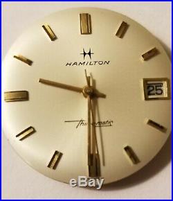 Vintage Hamilton Masterpiece Thin-o-Matic Micro Rotor Cal 629, Dial, hands, runs