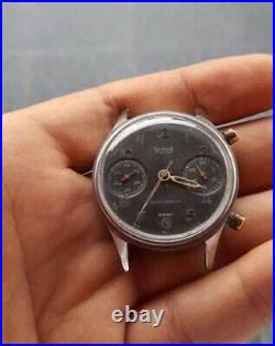 Vintage Hanhart Chronograph Hand Wind Mens Watch For Parts/Repair